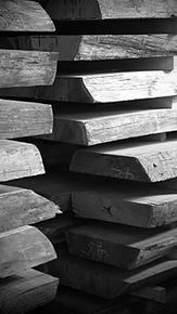 Sculptural process, drying of teak wood